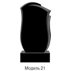 Памятник черный стандарт Модель 21