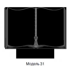 Памятник черный семейный Модель 31