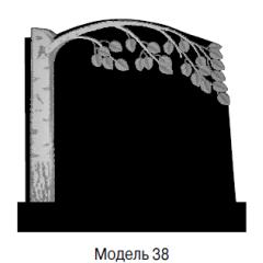Памятник черный семейный Модель 38
