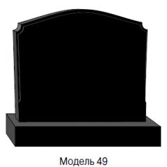 Памятник черный семейный Модель 49