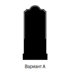 Памятник черный эконом Вариант А