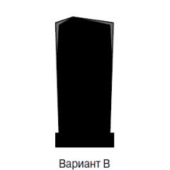 Памятник черный эконом Вариант B