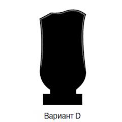 Памятник черный эконом Вариант D