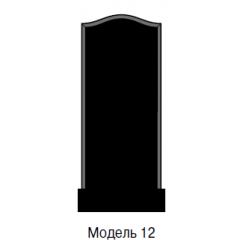 Памятник черный стандарт Модель 12