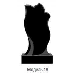 Памятник черный стандарт Модель 19