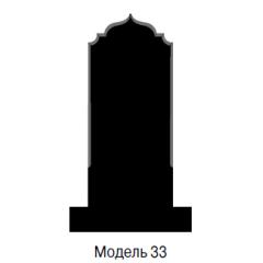 Памятник черный стандарт Модель 33