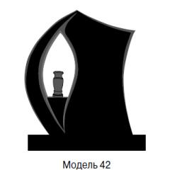 Памятник черный стандарт Модель 42