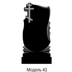 Памятник черный стандарт Модель 43