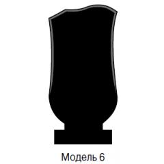 Памятник черный стандарт Модель 6