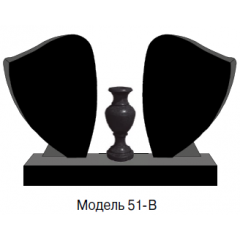 Памятник черный семейный Модель 51-B