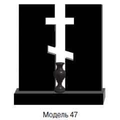 Памятник черный семейный Модель 47