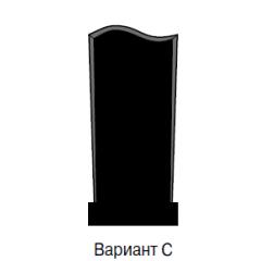 Памятник черный эконом Вариант C