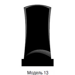 Памятник черный стандарт Модель 13