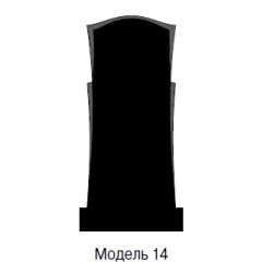 Памятник черный стандарт Модель 14