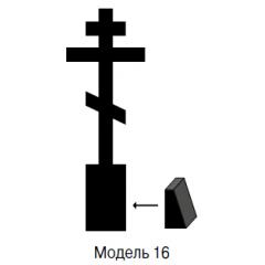 Памятник черный стандарт Модель 16