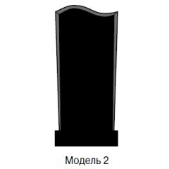 Памятник черный стандарт Модель 2