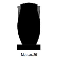 Памятник черный стандарт Модель 26