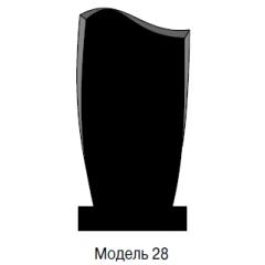 Памятник черный стандарт Модель 28