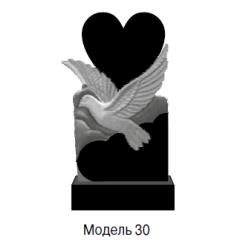 Памятник черный стандарт Модель 30
