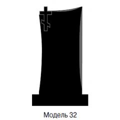 Памятник черный стандарт Модель 32