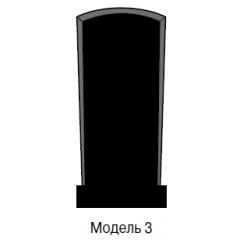 Памятник черный стандарт Модель 3