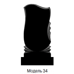 Памятник черный стандарт Модель 34