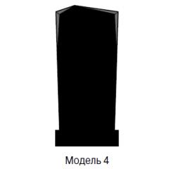 Памятник черный стандарт Модель 4