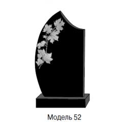 Памятник черный стандарт Модель 52