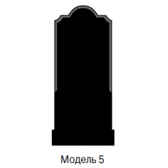 Памятник черный стандарт Модель 5
