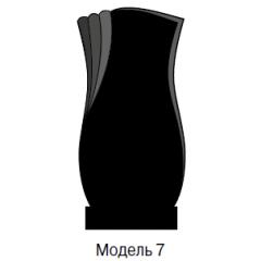 Памятник черный стандарт Модель 7