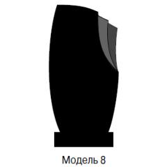 Памятник черный стандарт Модель 8